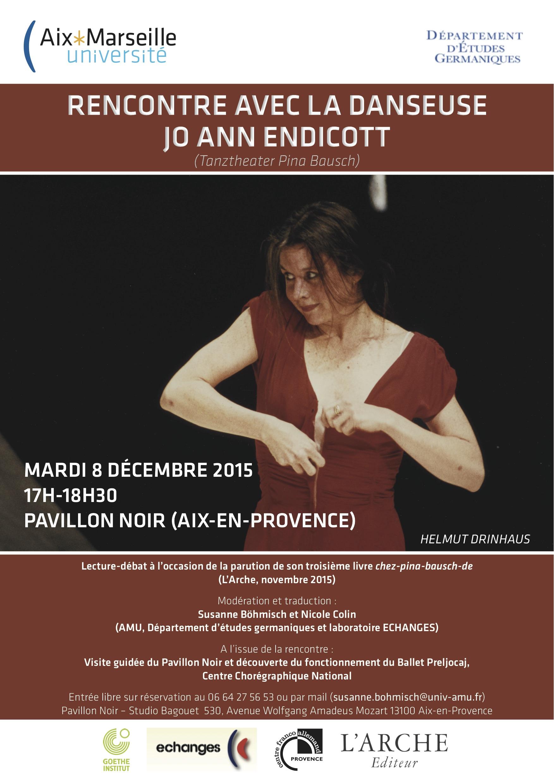 Rencontre avec la danseuse Jo Ann Endicott