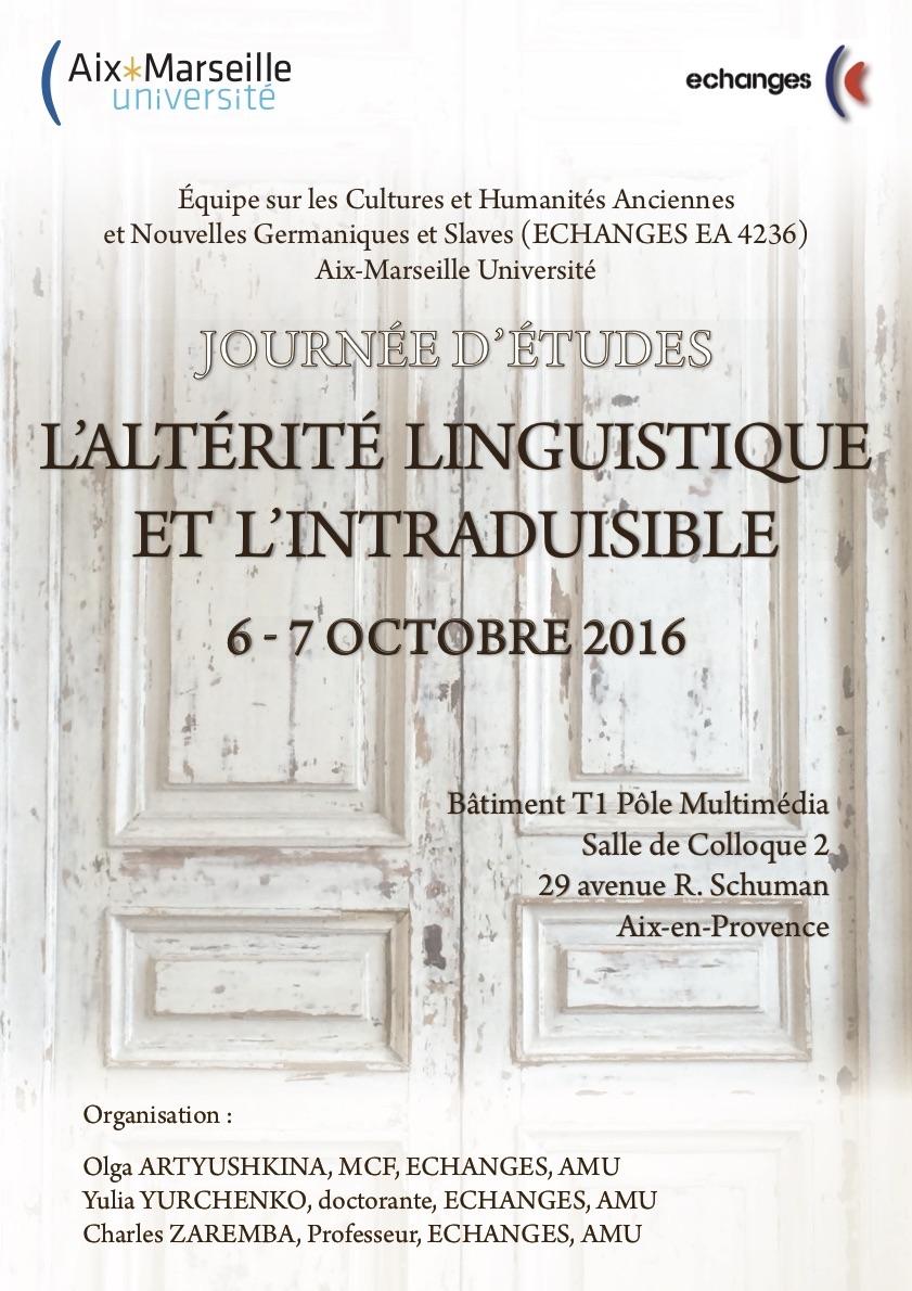 L'altérité linguistique et l'intraduisible