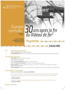 Europe Centrale: 30 ans après la fin du rideau de fer