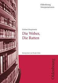 """Gerhart Hauptmann """"Die Weber"""" und """"Die Ratten""""."""
