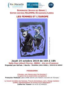 Séminaire Jeudis du Genre: Les femmes et l'Europe