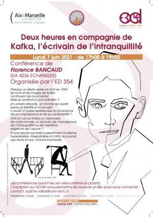 Kafka, l'écrivain de l'intranquillité