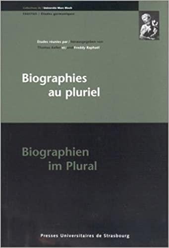 Biographies au pluriel – interculturalité, couples, mise en scène, langue, littérature, société / Interkulturalität, Paare, Inszenierung